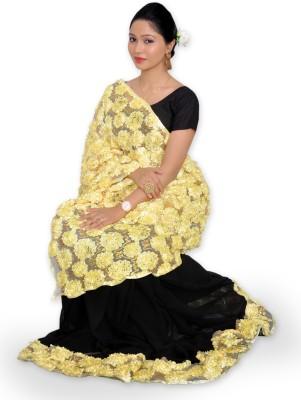 Lemonhood Fashions Embellished Fashion Georgette, Net Sari
