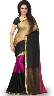 Jhilmil Fashion Self Design Fashion Cotton Saree(Multicolor) at flipkart