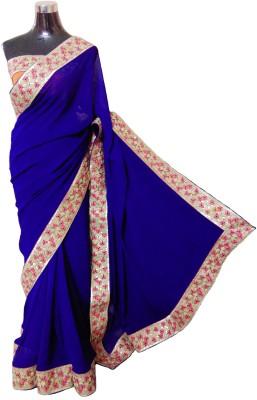 Navkar Fashions Self Design Fashion Georgette Sari