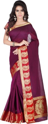 Azara Lifestyle Self Design, Plain Banarasi Cotton Sari