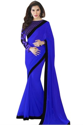 We Care Creation Embriodered Bollywood Pure Georgette Sari