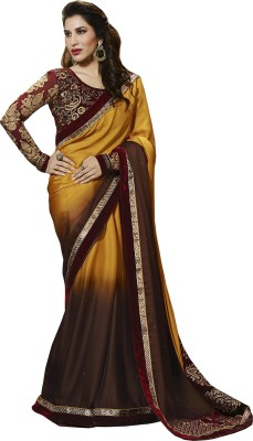Go4Fashion Embriodered Fashion Georgette Sari
