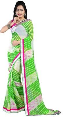 Richa Geometric Print Leheria Chiffon Sari