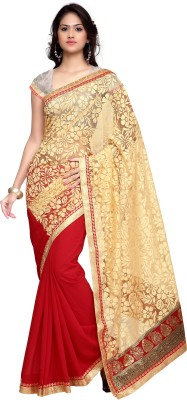 Shree Parmeshwari Embellished Bollywood Brasso, Pure Georgette Sari
