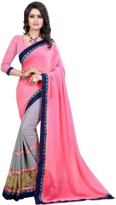 Unique Fashion Self Design Daily Wear Georgette Sari