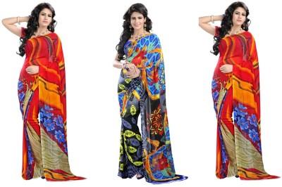 Stylobby Floral Print Daily Wear Handloom Georgette Sari