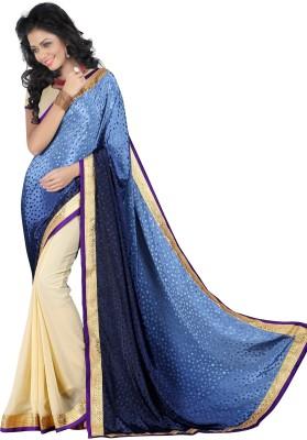 Jagdamba Creation Plain Fashion Viscose Sari