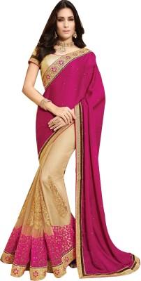 Shop Avenue Embellished Fashion Chiffon, Net Sari