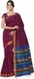 MINAXI Plain Daily Wear Cotton Sari