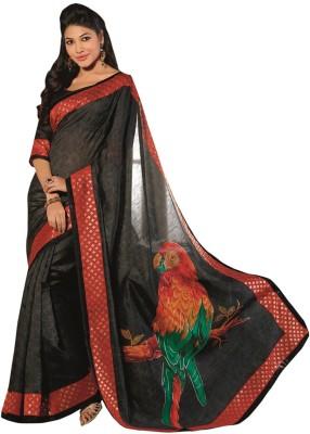 Abida Printed Bhagalpuri Art Silk Sari