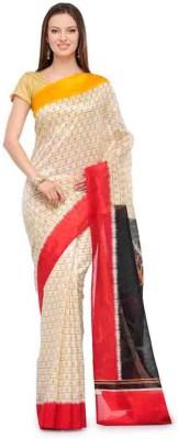 Kanishk Textile Printed Fashion Art Silk Sari