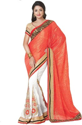 Spangel Fashion Self Design Banarasi Georgette Sari