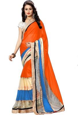 FabPandora Embriodered Bollywood Lycra Sari