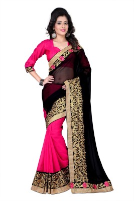 Kuki Fashion Self Design Bollywood Georgette Sari
