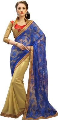 Admyrin Printed Fashion Georgette, Net Sari