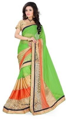 AahnaFashion Self Design Fashion Silk Sari