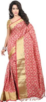 Jay Fashion Embellished Banarasi Art Silk Saree(Red) at flipkart