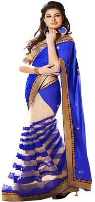 JK Fabrics Self Design Fashion Georgette Sari