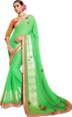 saritha Embriodered Fashion Shimmer Fabric Sari
