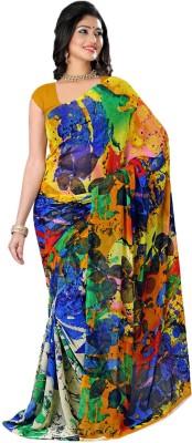 True Fashion Graphic Print Fashion Pure Georgette Sari