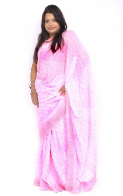 Gulmohaar Self Design Bollywood Georgette Sari