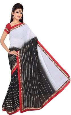 Giriraj Fashion Geometric Print Fashion Chiffon Sari