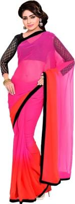 Wama Fashion Plain Bollywood Pure Georgette Sari