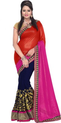 Monu Silk Mills Embriodered Bollywood Georgette Sari