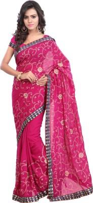 Khazana Embriodered Fashion Synthetic Georgette Sari