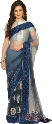 Senses Self Design Fashion Net Sari