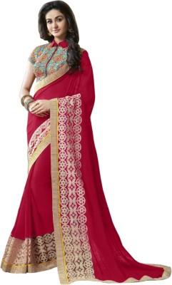 LaazreeFashion Embriodered Bollywood Georgette Sari