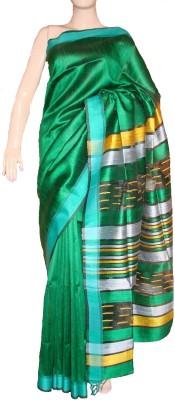 KBANKISH Self Design Bhagalpuri Handloom Dupion Silk Sari
