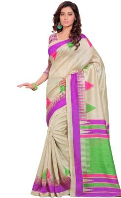 Kjs Self Design Bollywood Art Silk Sari