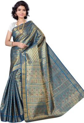 Alankrita Self Design, Woven, Solid Kanjivaram Art Silk, Silk, Jacquard Sari