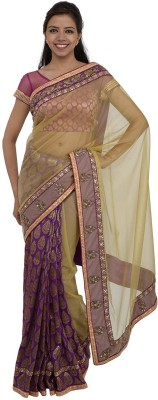 Inspira Self Design Fashion Net, Brocade Sari