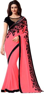 Hitansh Fashion Embriodered Fashion Georgette Sari