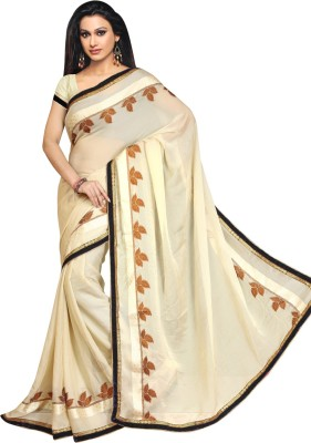 Highchoice Creation Embriodered, Solid Bollywood Handloom Net Sari