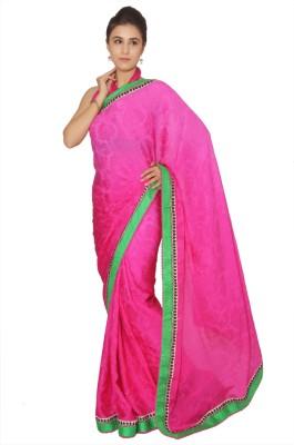 Vibhuti Sarees Self Design Fashion Pure Crepe Sari