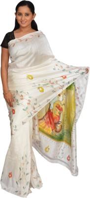 Siri Arts Printed Maheshwari Handloom Silk Sari