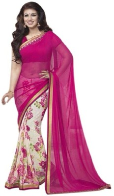 Maxusfashion Printed Fashion Georgette Sari