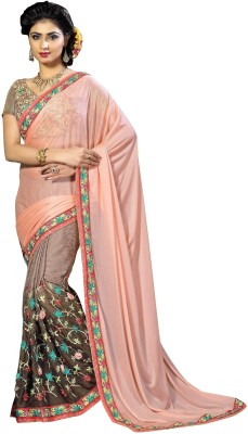 Aarushi Fashion Embriodered Chanderi Lycra Sari