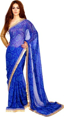 Velli Printed Bandhej Chiffon Sari