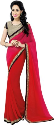 Jassu Fashion Hub Self Design Fashion Chiffon Sari