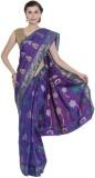 AVR FASHIONS Floral Print Banarasi Silk ...