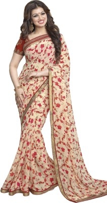 The Color Tex Floral Print Bollywood Georgette Sari