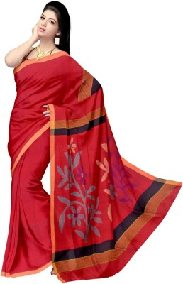 Glitters Floral Print Fashion Cotton Sari