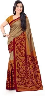 DESIGN WILLA Printed Fashion Art Silk Sari