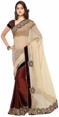 Aarnas Fashion Embriodered Bollywood Chiffon Sari