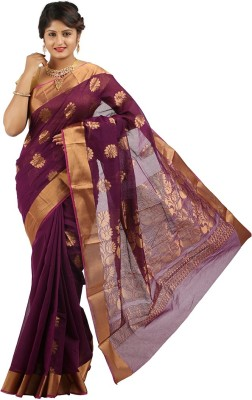 East West Embriodered Coimbatore Silk Cotton Blend Sari