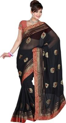 Fabliva Embriodered Fashion Chiffon Sari